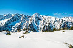 Austrian Alps in the winter Stock Image