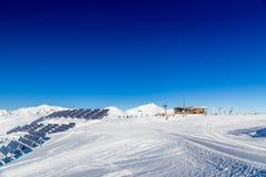 Austrian Alps. Austrian Winter, Alps in Neukirchen and Bramberg near Kitzbuehel, Wildkogel Royalty Free Stock Image
