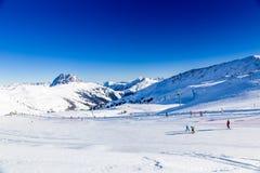 Austrian Alps. Austrian Winter, Alps in Neukirchen and Bramberg near Kitzbuehel, Wildkogel Royalty Free Stock Photos