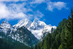 Austrian alps in zillertal Stock Images