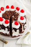 Austrian Black Forest cake. Royalty Free Stock Photo