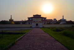 Austrian buddhist temple in Lumbini, Nepal - birthplace of Buddha Siddhartha Gautama. Mother temple of the graduated path to enlightenment stock photography