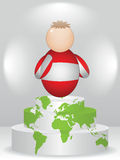 Austrian buddy on podium. Austrian buddy on global podium Royalty Free Stock Photos