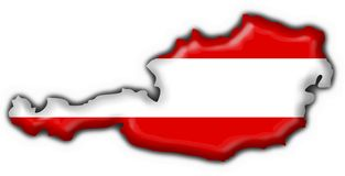 Austrian button flag map shape Stock Photo