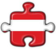 Austrian button flag puzzle shape Royalty Free Stock Images