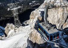 Austrian cableway to Zugspitze Royalty Free Stock Photo