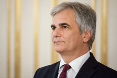 Austrian Chancellor Werner Faymann Royalty Free Stock Image