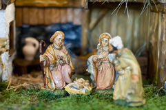 Austrian Christmas Crib Royalty Free Stock Photography