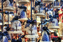 Austrian Christmas Ornaments. Christmas tree ornaments for sale in Salzburg, Austria Royalty Free Stock Images