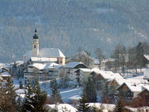 Austrian Church in Alpine Scene Royalty Free Stock Image