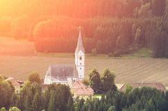 Austrian Church at Sundown Royalty Free Stock Photo