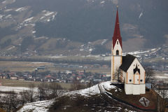 Austrian church in winter Royalty Free Stock Photography