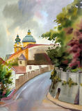 Austrian city of Melk Royalty Free Stock Images