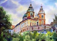 Austrian city of Melk Royalty Free Stock Photos