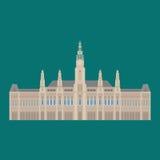 Austrian City sights in Vienna. Austria Landmark Travel And Journey Architecture Elements Town hall Stock Photos