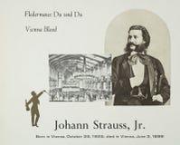 Austrian composer Johann Strauss II stock photo