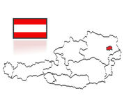 Austrian counties Royalty Free Stock Image