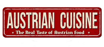 Austrian cuisine vintage rusty metal sign Stock Image
