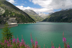 Austrian Dam in the Alps Royalty Free Stock Images