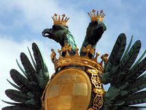 Austrian double headed eagle in Vienna. Vienna, Austria - Eagle on imperial palace stock image