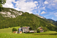 Austrian Farm House in the Mountains Royalty Free Stock Image