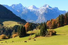 Austrian Farm Landscape stock photo