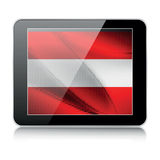 Austrian flag. Tablet icon with austrian flag Royalty Free Stock Images