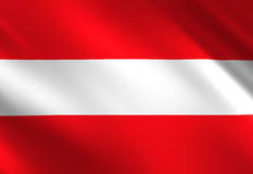 Austrian flag Stock Photography