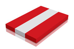 Austrian flag. 3d Render with reflection royalty free illustration