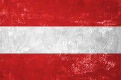 Austrian Flag. Austria - Austrian Flag on Old Grunge Texture Background stock photography