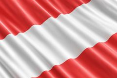 Austrian flag background, 3D. Rendering Stock Photo