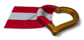Austrian flag and heart symbol. 3d rendering Royalty Free Stock Images