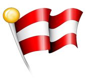 Austrian Flag Illustration Royalty Free Stock Photo