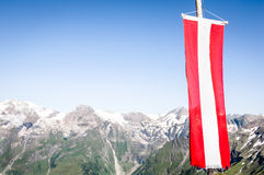 Austrian flag Royalty Free Stock Photography