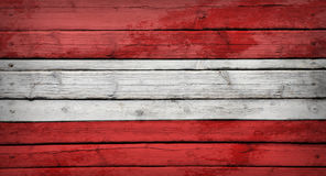 Austrian flag painted on wooden boards Royalty Free Stock Images