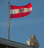 Austrian Flag on Parliament building Royalty Free Stock Image