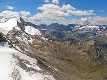 Austrian glacier panorama Royalty Free Stock Image