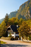 Austrian house in mountain village Royalty Free Stock Image