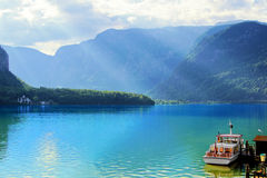 Austrian lake scene Stock Images