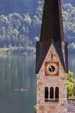 Austrian lakeside village of Hallstatt Stock Photos