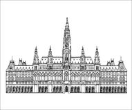 Austrian landmark. Town hall building in Vienna, Austria Royalty Free Stock Photography