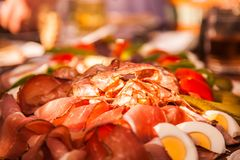 Austrian meat food. A Austrian meat food background Stock Photo