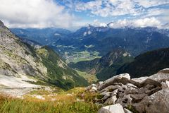 Austrian montains with view onto Lofer Royalty Free Stock Images