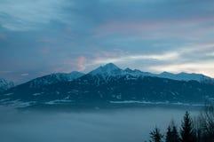Austrian mountain. Beautiful sunset in Austrian mountain Royalty Free Stock Image