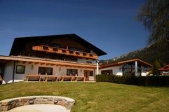 Austrian Mountain Chalet House Stock Image