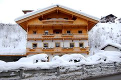 Austrian Mountain Home. Image of a typical Austrian Alps Mountain home Royalty Free Stock Image