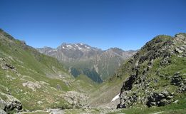 Austrian mountain panorama Royalty Free Stock Image