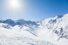 Austrian Mountain View Royalty Free Stock Images