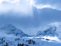 Austrian Mountain Village Royalty Free Stock Photography