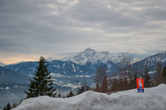 Austrian mountain. Austrian winter mountain near Innsbruck Stock Images
